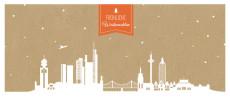 Weihnachtskarte Frankfurt Karton orange