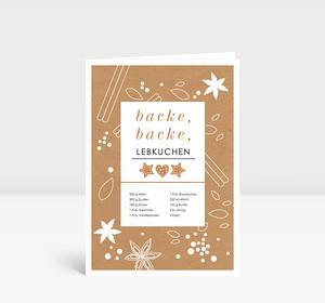 Weihnachtskarte Lebkuchenrezept
