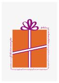 Weihnachtskarte Geschenk orange