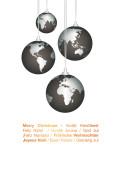 Weihnachtskarte Weltkugeln international orange auf weiß