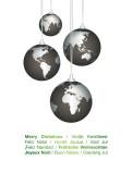 Weihnachtskarte Weltkugeln international grün auf weiß
