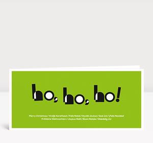 Weihnachtskarte HOHOHO Typoart grün