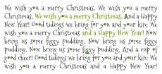 Weihnachtskarte We wish you grün