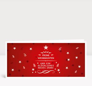 Weihnachtskarte Festliche Weihnachtsgrüße Rot
