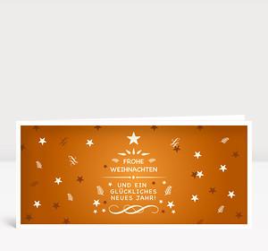 Weihnachtskarte Festliche Weihnachtsgrüße Orange