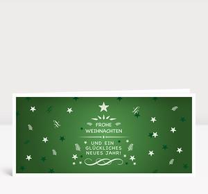Weihnachtskarte Festliche Weihnachtsgrüße Grün