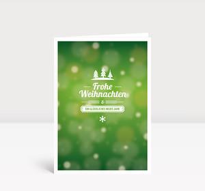 Weihnachtskarte Kleine Weihnacht Grün