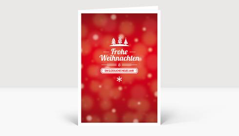 Weihnachtskarte Kleine Weihnacht Rot