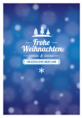Weihnachtskarte Kleine Weihnacht Blau