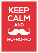 Weihnachtskarte Keep calm and hohoho