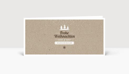 Weihnachtskarte Kleine Weihnacht Karton DIN Lang