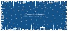 Weihnachtskarte Berlin gerahmt Blau