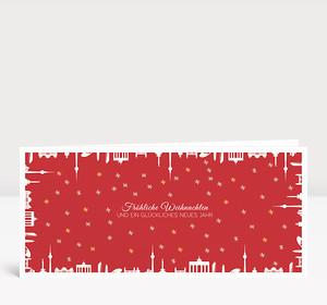Weihnachtskarte Berlin gerahmt Rot
