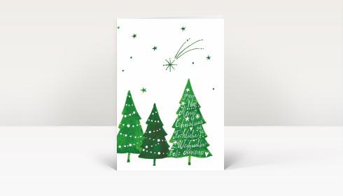 weihnachtskarte komet ber weihnachtswald international. Black Bedroom Furniture Sets. Home Design Ideas