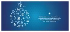 Weihnachtskarte Festliche Symbolkugel blau