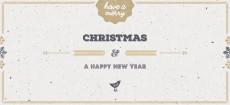 Weihnachtskarte Vogelgezwitscher gold englisch