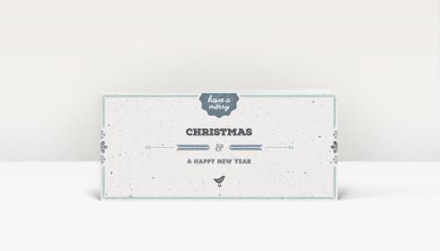 Weihnachtskarte vogelgezwitscher blau din lang englisch - Weihnachtskarte englisch ...