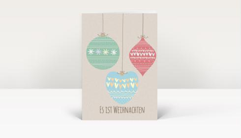 weihnachtskarte es ist weihnachten dk2450. Black Bedroom Furniture Sets. Home Design Ideas