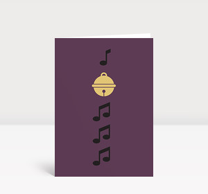 Weihnachtskarte Kling, Glöckchen