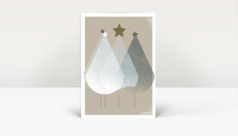 weihnachtskarte edle weihnachtstannen dk2474. Black Bedroom Furniture Sets. Home Design Ideas