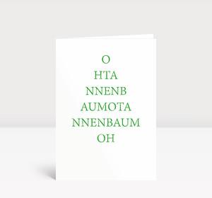 Weihnachtskarte O Tannenbaum typografisch