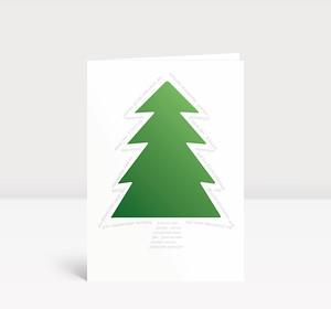Weihnachtskarte Grüner Baum Typo
