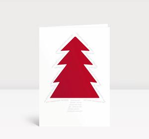 Weihnachtskarte Roter Baum Typo