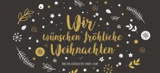 Weihnachtskarte Weihnachtswunschkugel DIN Lang