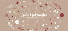 Weihnachtskarte Weihnachtswunschkugel Karton Rot