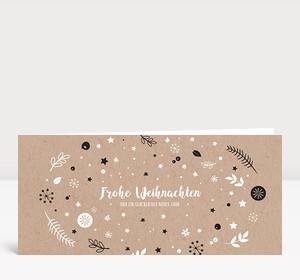 Weihnachtskarte Weihnachtswunschkugel Karton Dunkelgrau