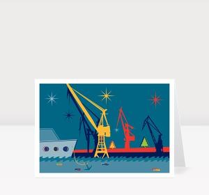 Weihnachtskarte Weihnachten Ahoi!