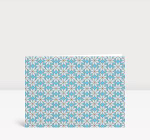 Weihnachtskarte Weihnachtssterne Hellblau