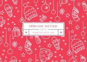 Weihnachtskarte Fröhliche Festtage Rot