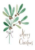 Weihnachtskarte Ölzweig Merry Christmas