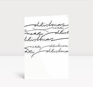Weihnachtskarte Geschwungene Lettern