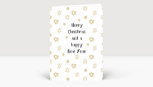 Weihnachtskarte Kritzelsternchen