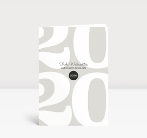 Weihnachtskarte Typoart 2019 warmgrau