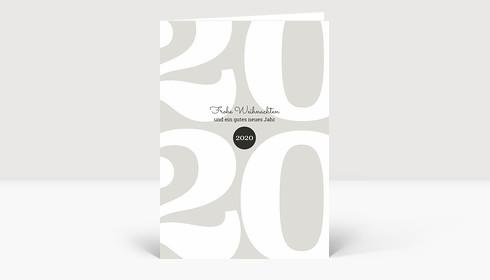 Weihnachtskarte Typoart 2020 warmgrau