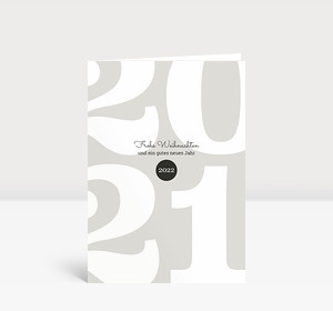 Weihnachtskarte Typoart 2021 warmgrau