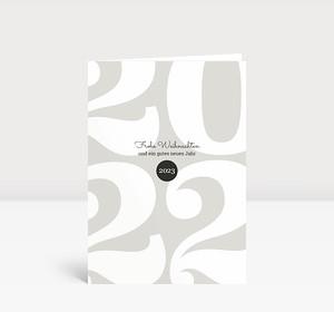 Weihnachtskarte Typoart 2022 warmgrau