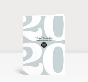 Weihnachtskarte Typoart 2020 blaugrau