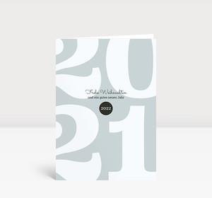 Weihnachtskarte Typoart 2021 blaugrau
