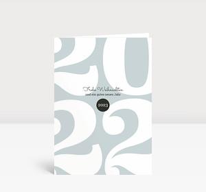 Weihnachtskarte Typoart 2022 blaugrau