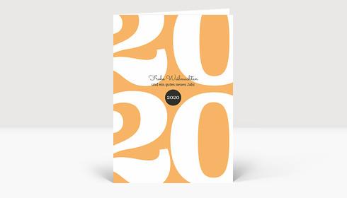Weihnachtskarte Typoart 2019 orange
