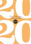 Weihnachtskarte Typoart 2020 orange