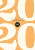 Weihnachtskarte Typoart 2021 orange