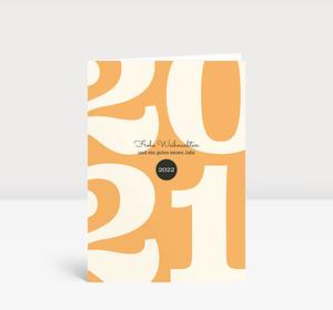 Weihnachtskarte Typoart 2022 orange