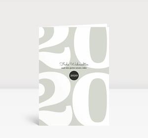 Weihnachtskarte Typoart 2020 grüngrau