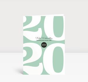 Weihnachtskarte Typoart 2020 mintgrün