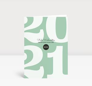 Weihnachtskarte Typoart 2021 mintgrün